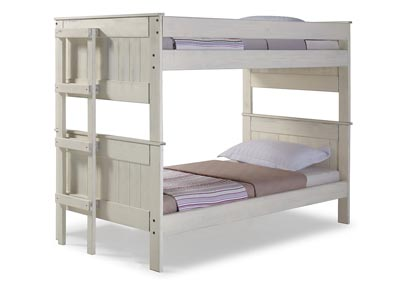 Image for Antique White Twin Stackable Bunk Bed