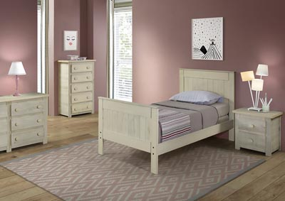 Image for Antique White Full Mates Bed