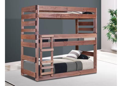 Image for Mahogany Finish Twin Triple Bunk Bed
