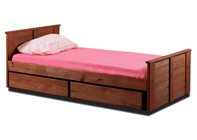 Image for Mahogany Finish Full Mates Bed