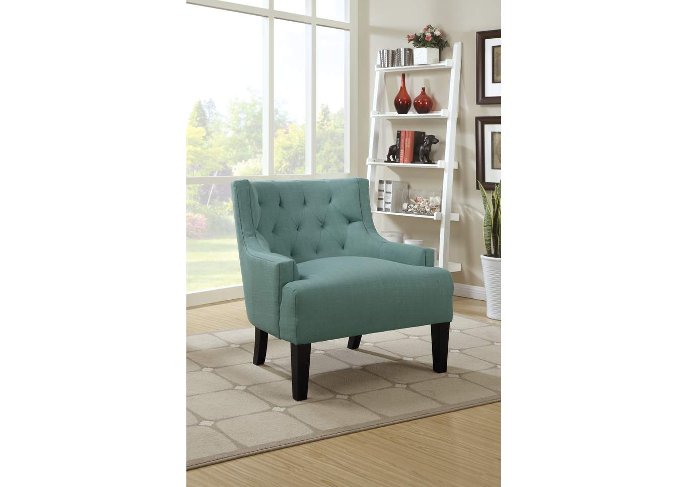 Light Blue Accent Chair,Poundex