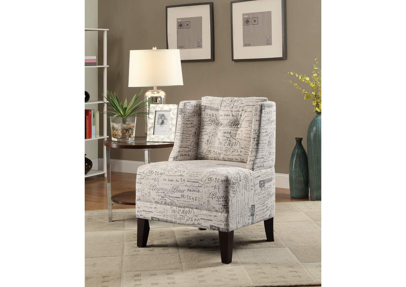 Pattern Accent Chair,Poundex