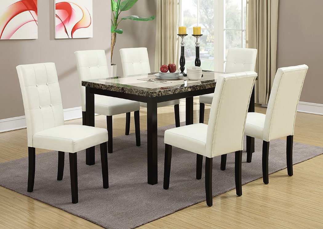 Utah Furniture Direct White Faux Leather Dining Chair