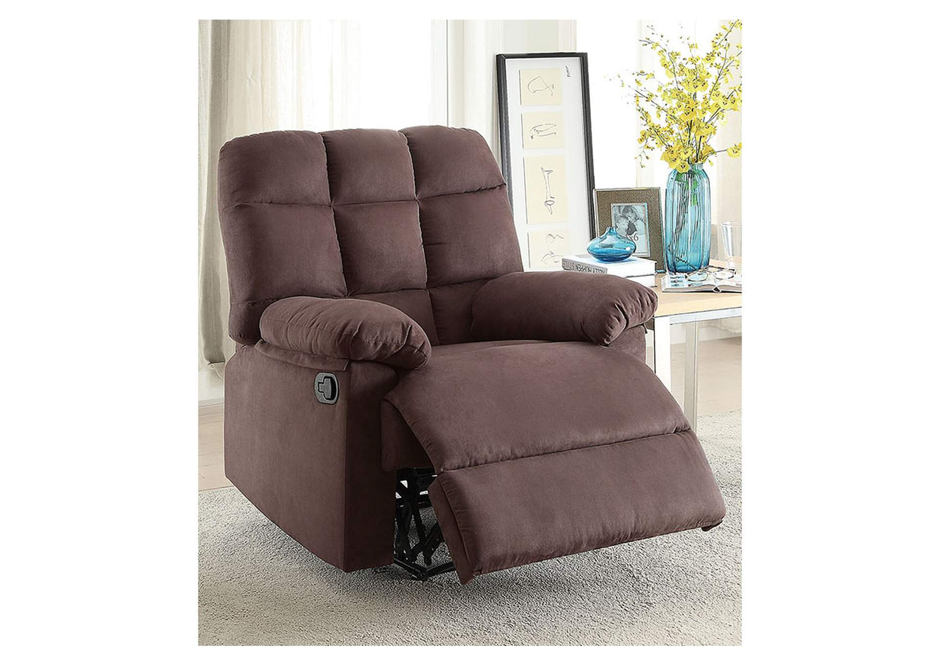 Chocolate Motion Recliner,Poundex