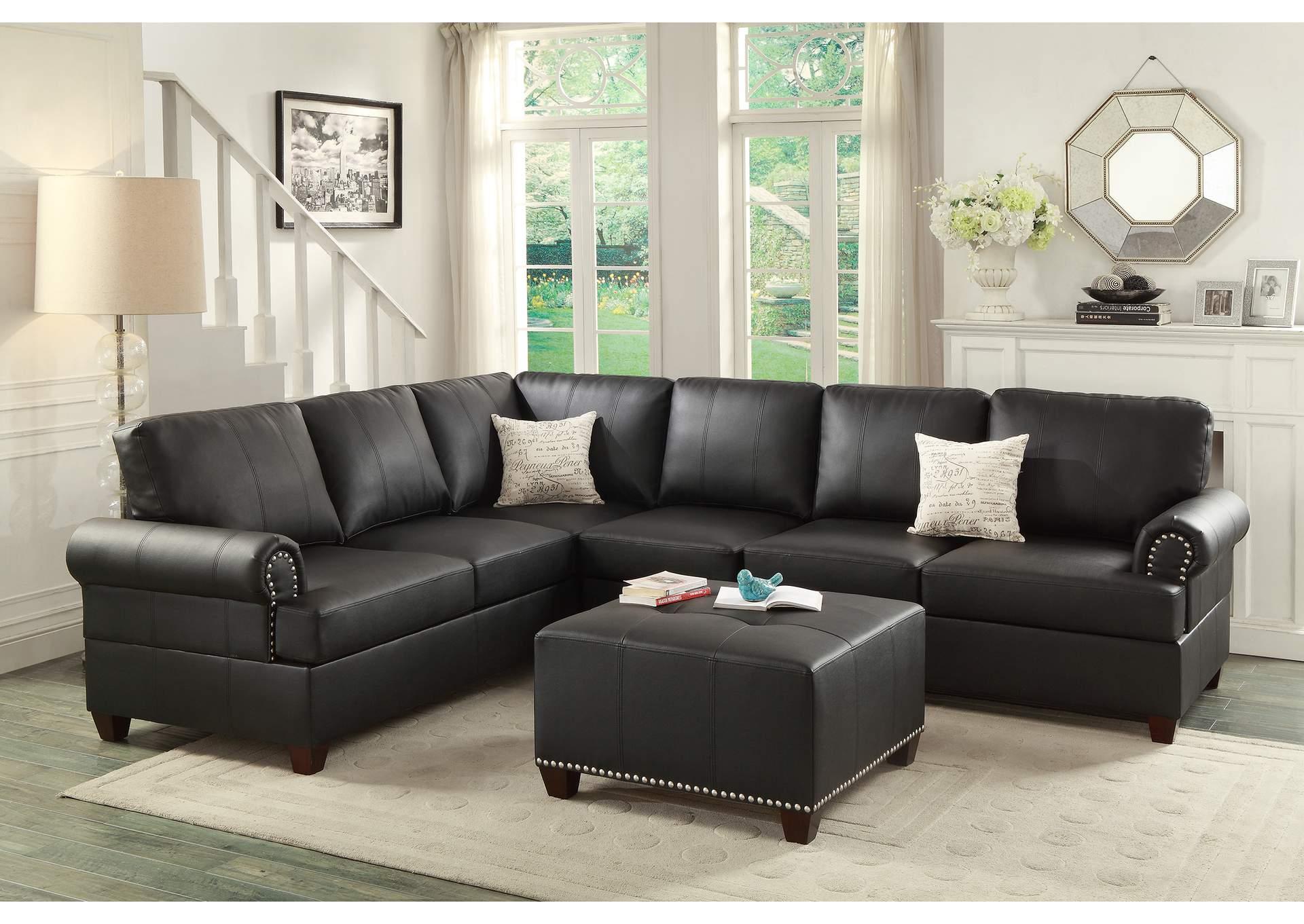 Utah Furniture Direct - Ogden, Utah Black Bonded Leather 2 Pcs ...