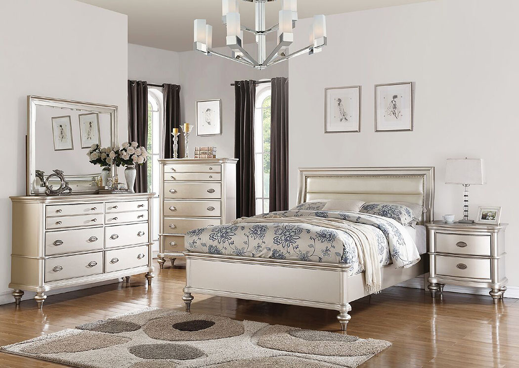 Silver Queen Bed,Poundex