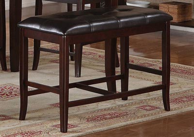 Dark Brown Dining Bench