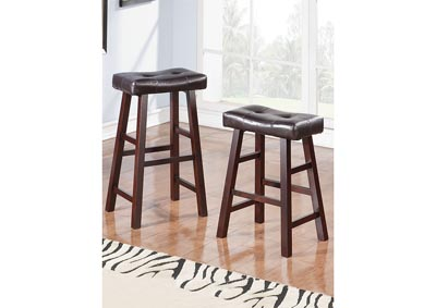 Dark Brown Faux Leather Bar Stool
