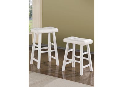 White Counter Stool (Set of 2)