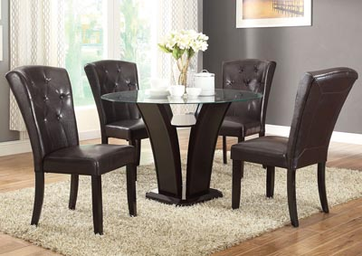 Dark Brown Dining Chair (Set of 2)