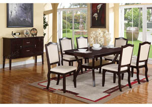Brown/White Dining Chair (Set of 2)