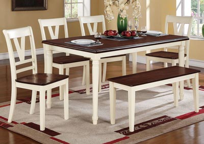 White/Brown Dining Chair (Set of 2)
