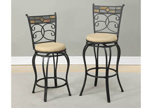 Faux Suede Counter Stool
