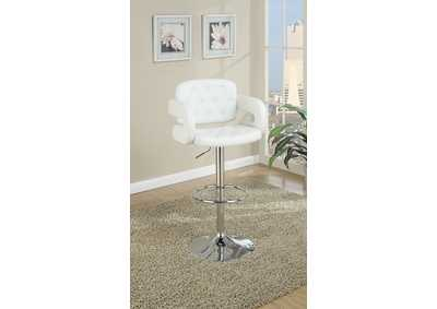 White Faux Leather Barstool