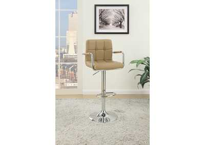 Brown Faux Leather Barstool