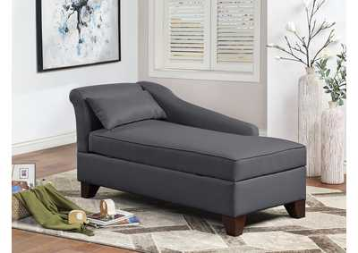 Image for Slate Black Chaise Lounge