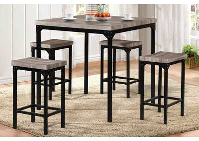 Black/Brown 5 Piece Counter Set