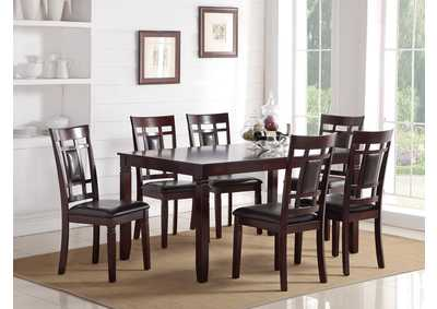 Image for Dark Cherry 7 Piece Dining Set