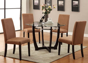 Saddle Microfiber Dining Chair