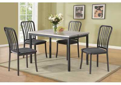 Grey 5 Piece Dining Set