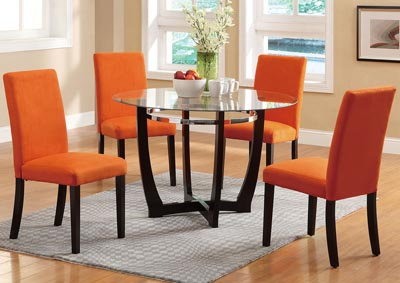 Orange Microfiber Dining Chair