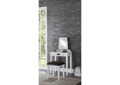White Vanity Set w/Stool