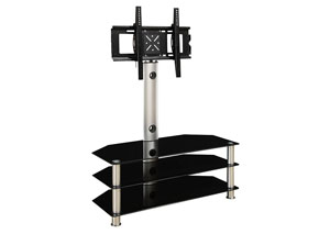 Black/Silver Glass TV Stand TV Stand