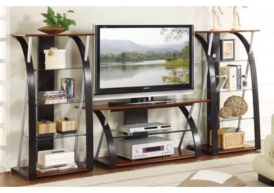 Image for Black/Brown TV Stand