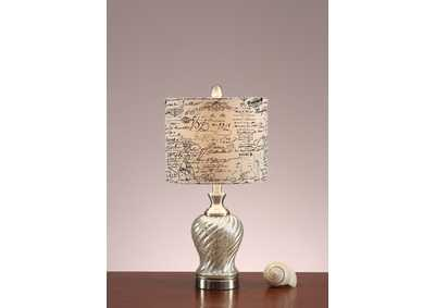 Pearlized Swirl Table Lamp
