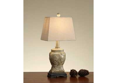 Ceramic Floral Table Lamp
