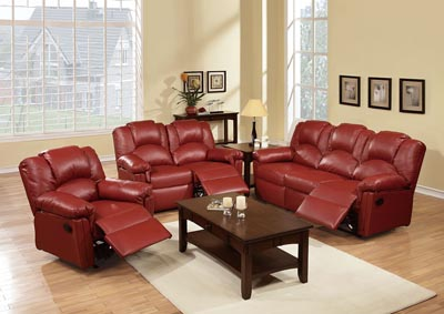 Burgundy Recliner Sofa