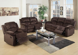 Chocolate Padded Suede Motion Sofa