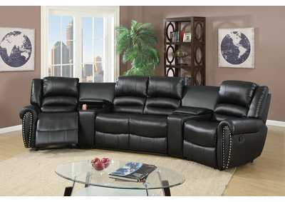 Black Home Theater Sectional