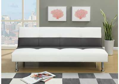 White Faux Leather Adjustable Sofa