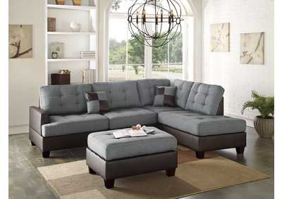 Grey 3 Piece Sectional