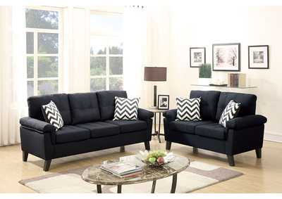 Black 2 Piece Sofa Set