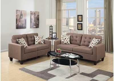 Light Coffee 2 Piece Sofa Set