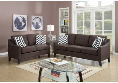 Chocolate 2 Piece Sofa Set