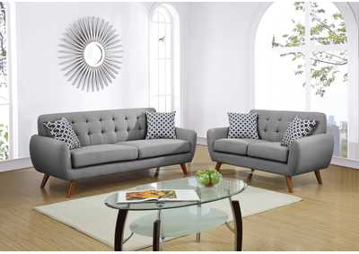 Grey 2 Piece Sofa Set