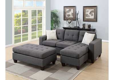 Blue Grey All-in -One Sectional