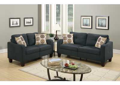 Black 2 PC Sofa Set