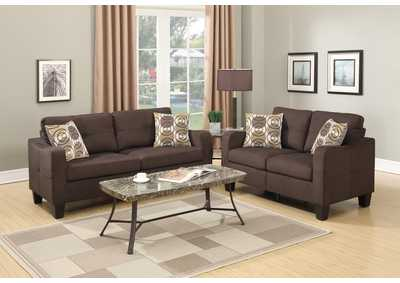 Brown 2 PC Sofa Set