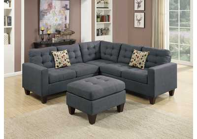 Blue Gray 4 PC Modular Sectional