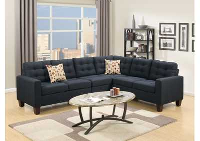 Black 4 PC Modular Sectional