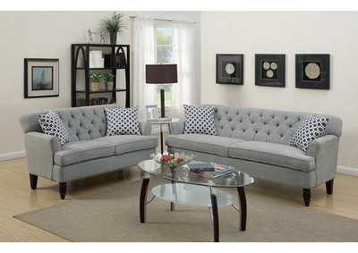 Taupe 2 PC Sofa Set