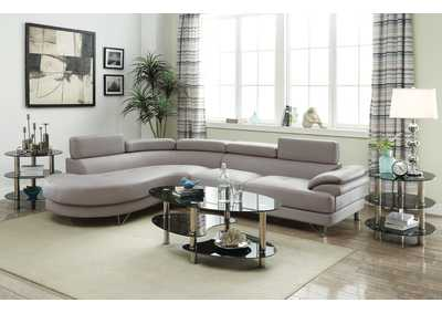 Light Grey 2 Piece Sectional