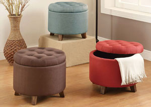 Light Blue Ottoman w/Storage