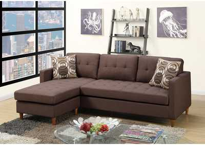 Brown Sectional Set
