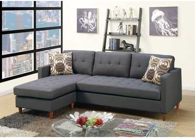 Blue-Gray Sectional Set