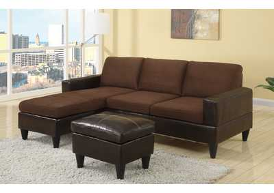 Chocolate All In One Sectional